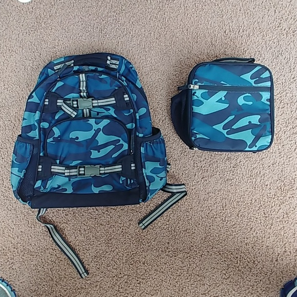 Pottery Barn Backpack And Lunch Box Set